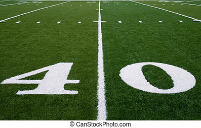 Football Field 40 Yard Line - 40 yard line on an american ...