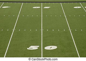 Football Field 50 Yard Line Stadium