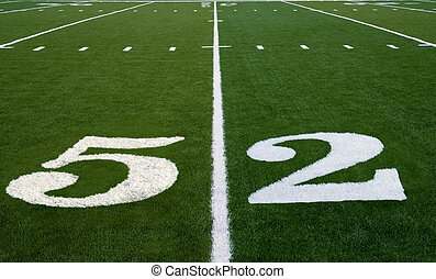 Football Field 52 Yard Line