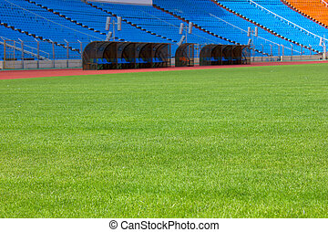 football field and stadium