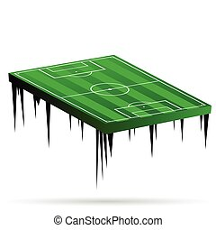 football field green vector illustration
