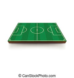 Football field icon, cartoon style