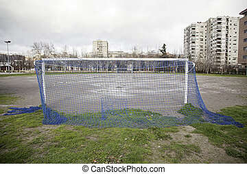 Football field in the city