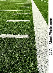 Football field - A shot of an american football field