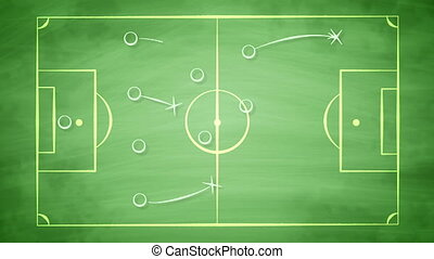 """Football field scheme with crosses and passes"" - ""A smart ..."