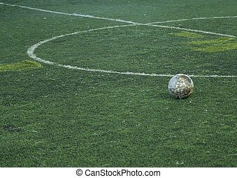 football field soccer stadium on the green grass