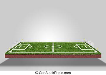 football field. soccer