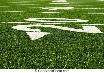 Football field - A shot of an american footbal field