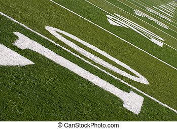 Football Field Ten Yard Line to Infinity - A football field...