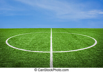 football field with sky