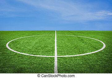 football field with sky