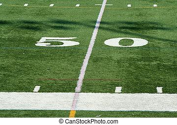 Football fifty yard marke