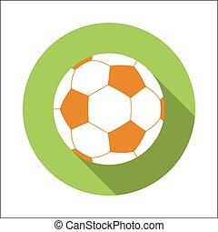 Football flat icon