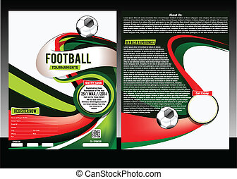 Football Flyer Template Vector