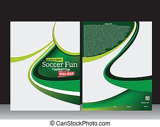 Football Flyer Template Vector