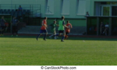 football, foire, coup de pied, gratuite, brouillé, affronter, aborder, faute, fond, pas, jeu