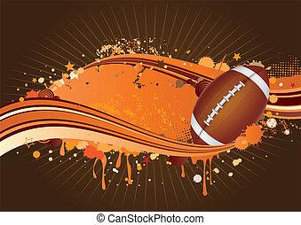 football, fond, amérique