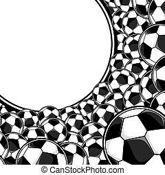 football, fond, balles