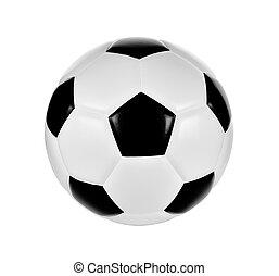football, fond, boule blanche, isolé