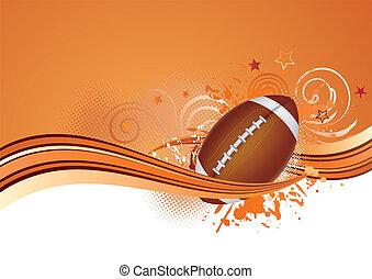 football, fondo, americano