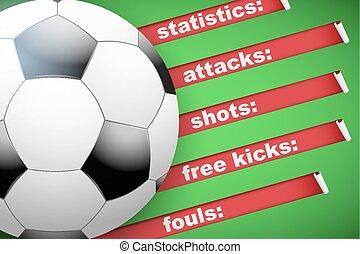 football football, fond, statistiques