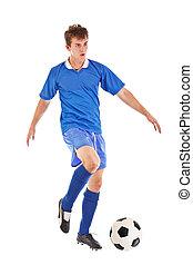 football, footballeur, balle