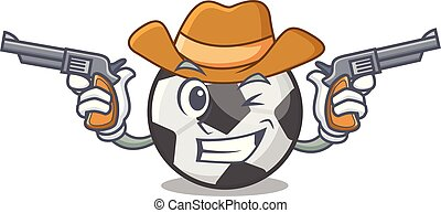 football, forme, balle, dessin animé, cow-boy