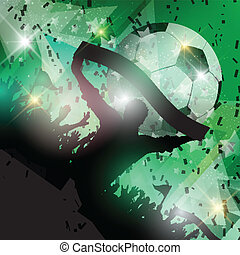 football, foule, fond