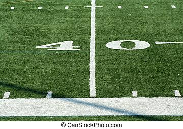 Football fourty yard marker