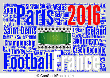 football, france, illustration, 2016