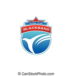 football futsal shield logo vector