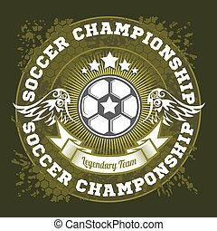 football, gabarit, écusson, logo, équipe foot, conception