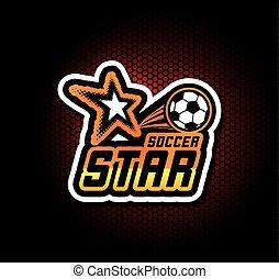 football, gabarit, logo, football, écusson, design.