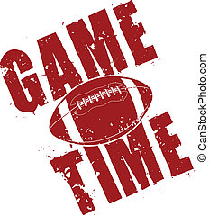 Football Game Time - Illustration of a football game time...