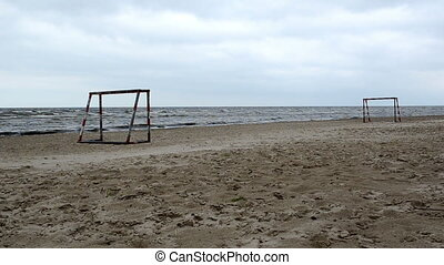 football gate sea sand