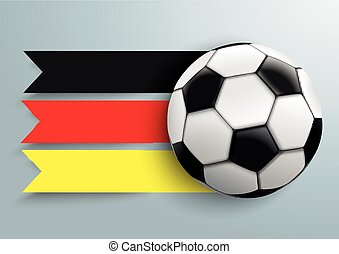 Football Germany Flag
