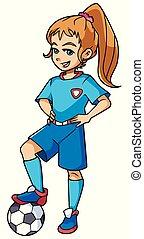 Football Girl Standing