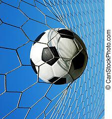 football goal net win winner champion soccer sport background for design