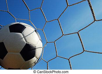 football goal net win winner champion soccer sport game background for design