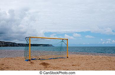 Football Goal on a Beach
