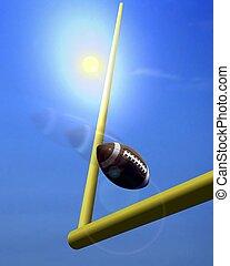 Football Goal Post under Sunlight
