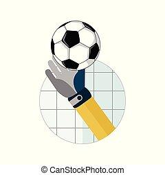 Football Goal Saving Illustration