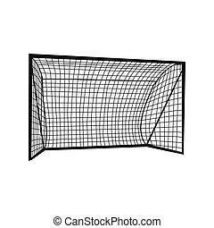 Football goal silhouette