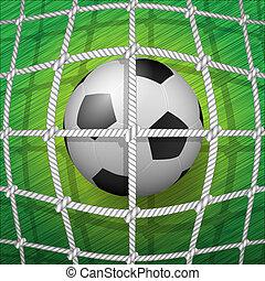 Football-Goal-Soccer ball - Illustration of the achieved...