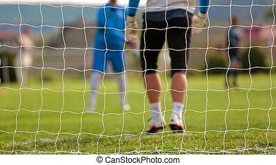 Football Goalkeeper Training on the Field