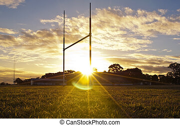 Football Goals - Goal posts for football, rugby union or...
