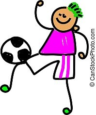 football, gosse