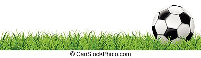 Football Grass White Background Long Header