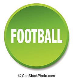 football green round flat isolated push button