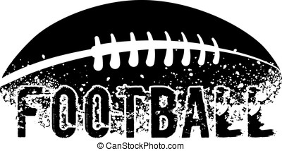 Football Grunge - silhouette of an american football with...